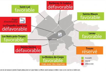 La carte des votes